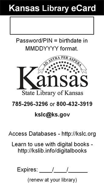 State of Kansas Library eCard